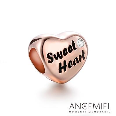 Angemiel安婕米珠飾 925純銀串珠 Sweet Heart(玫金)