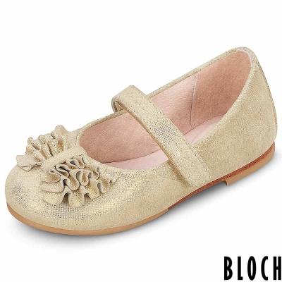 Bloch 澳洲荷葉抓皺芭蕾舞鞋 金色款