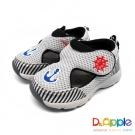 Dr. Apple 機能童鞋 航海水手風透氣涼鞋款  黑