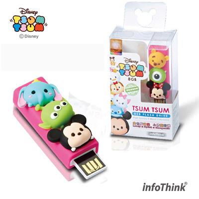 InfoThink迪士尼TSUM TSUM造型隨身碟8GB