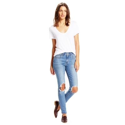 Levis-721-淺藍高腰緊身窄管丹寧牛仔褲