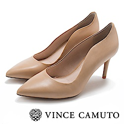 Vince Camuto 曲線素面性感高跟鞋-米色