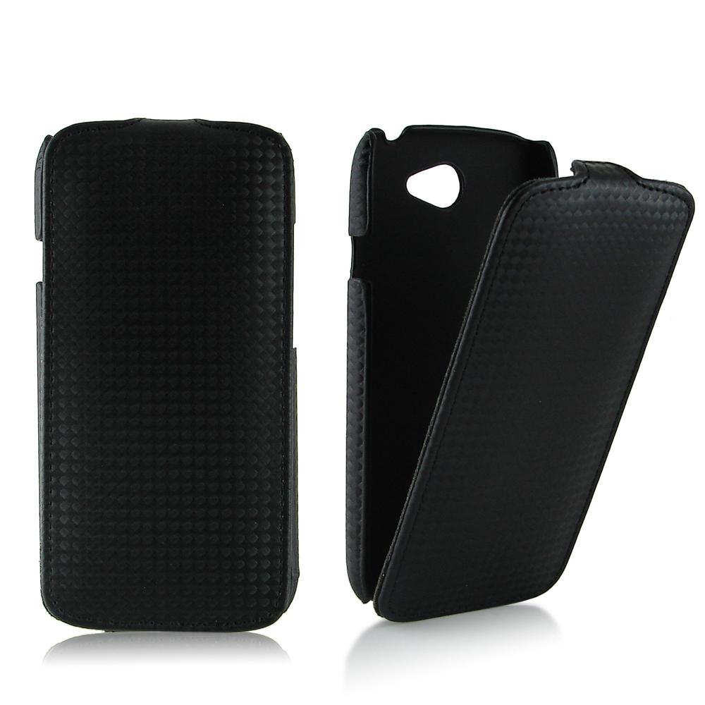 HTC ONE S 專用掀蓋式卡夢紋皮革保護皮套