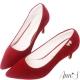 Ann'S完美氣質-小蝴蝶結鑽扣尖頭低跟鞋-紅 product thumbnail 1