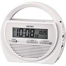 SEIKO精工 露營多功能戶外電子鐘(QHL060W)-白-17cm