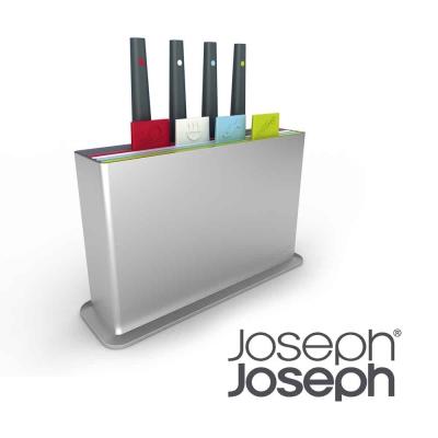 Joseph Joseph 檔案夾止滑砧板附刀組(附凹槽設計)