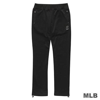 MLB-紐約洋基隊反光LOGO印花長褲-黑 (女)