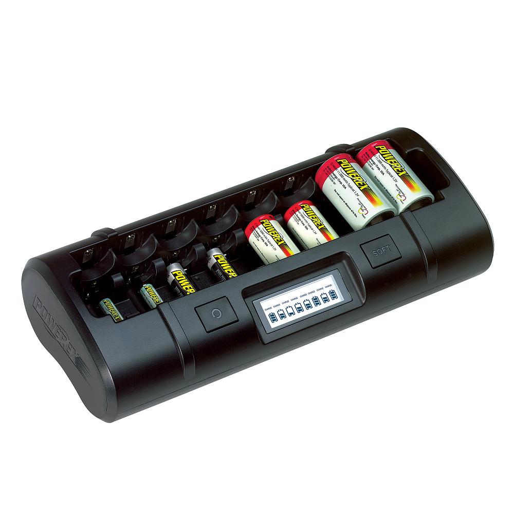 美國MAHA-POWEREX 大小通吃八通道鎳氫充電器(MH-C808M)