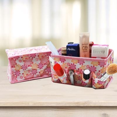 樸生活 創意可摺疊優雅化妝收納盒X2件組