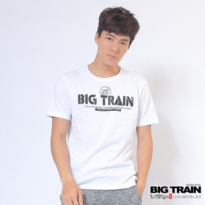 BIG TRAIN 日式嘻哈潮T男款-男-白色