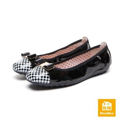 達芙妮DAPHNE-ShoeBox系列-平底鞋-格