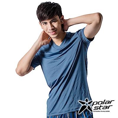 PolarStar 男 排汗衣內衣 排汗衣 短袖T恤『灰藍』P15137
