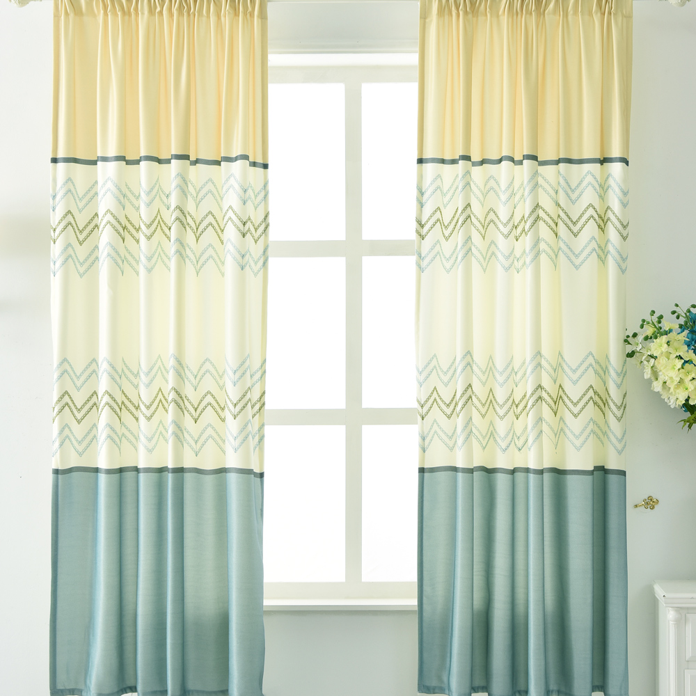 伊美居 - 愛琴海刺繡窗簾 130x200cm(2件)
