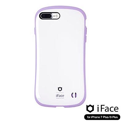 iFace iPhone8/8+ 雙素材吸震抗衝擊手機殼(馬卡龍)-白/紫