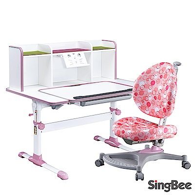 SingBee欣美 智能小博士超大U型桌椅組【網路限定】-120x70x74cm