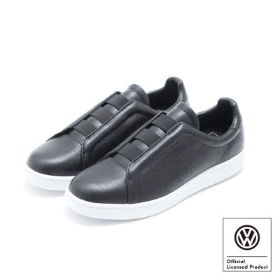Volkswagen福斯 懶人無帶式運動休閒鞋 H Easy-黑色