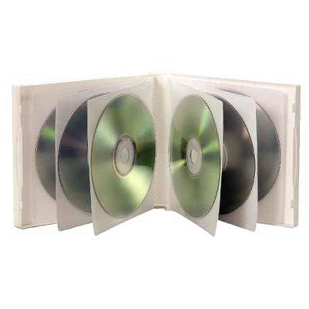 DigiStone 12片裝軟殼日劇收納盒/白色透明 10PCS