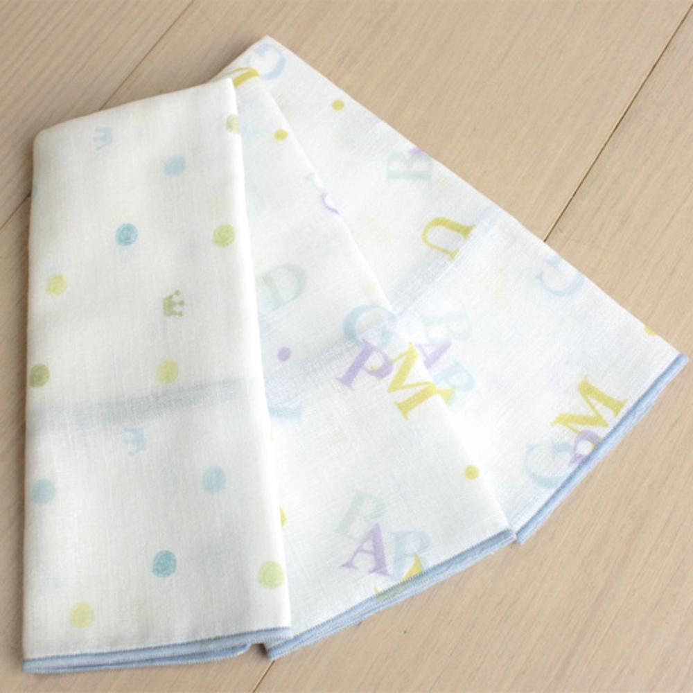 GMP BABY 舒適字母純棉紗布手巾~6入