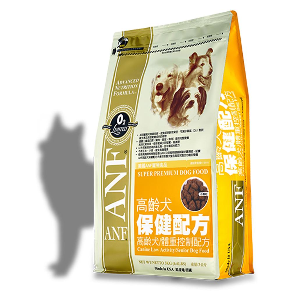 美國愛恩富ANF 老犬保健配方 減肥犬 飼料3kg X 2包