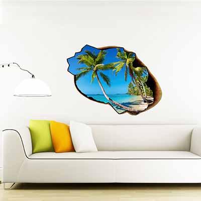 [摩達客]法國Ambiance 熱帶海灘設計 家飾壁貼