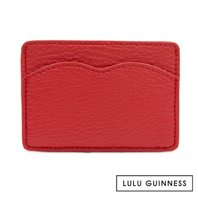 LULU GUINNESS RED CUPIDS BOW 卡片夾