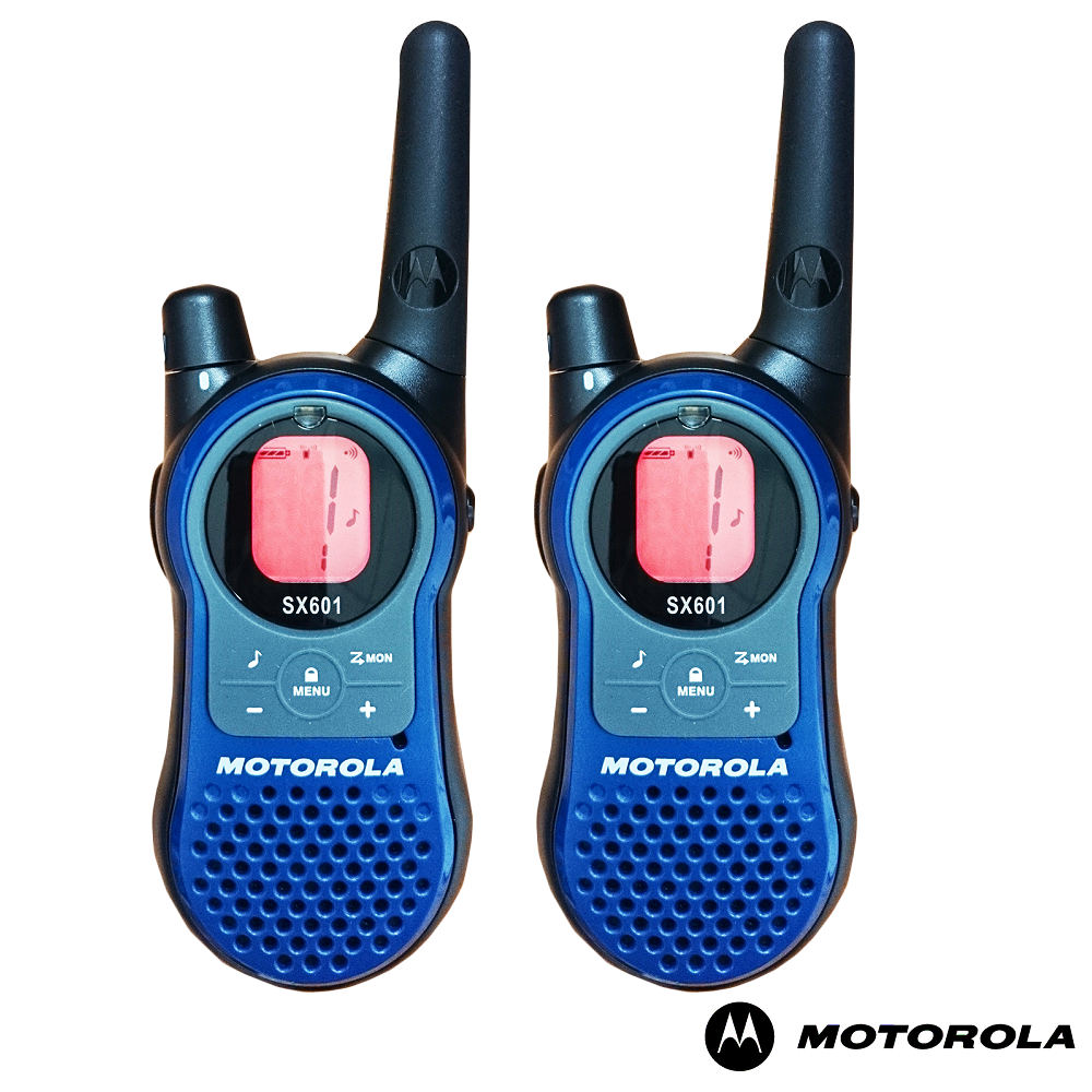 Motorola (摩托羅拉) SX601《雙座充組》免執照無線電對講機(一組二支)