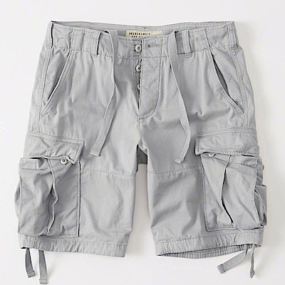 AF a&f Abercrombie & Fitch 短褲 灰色 0649