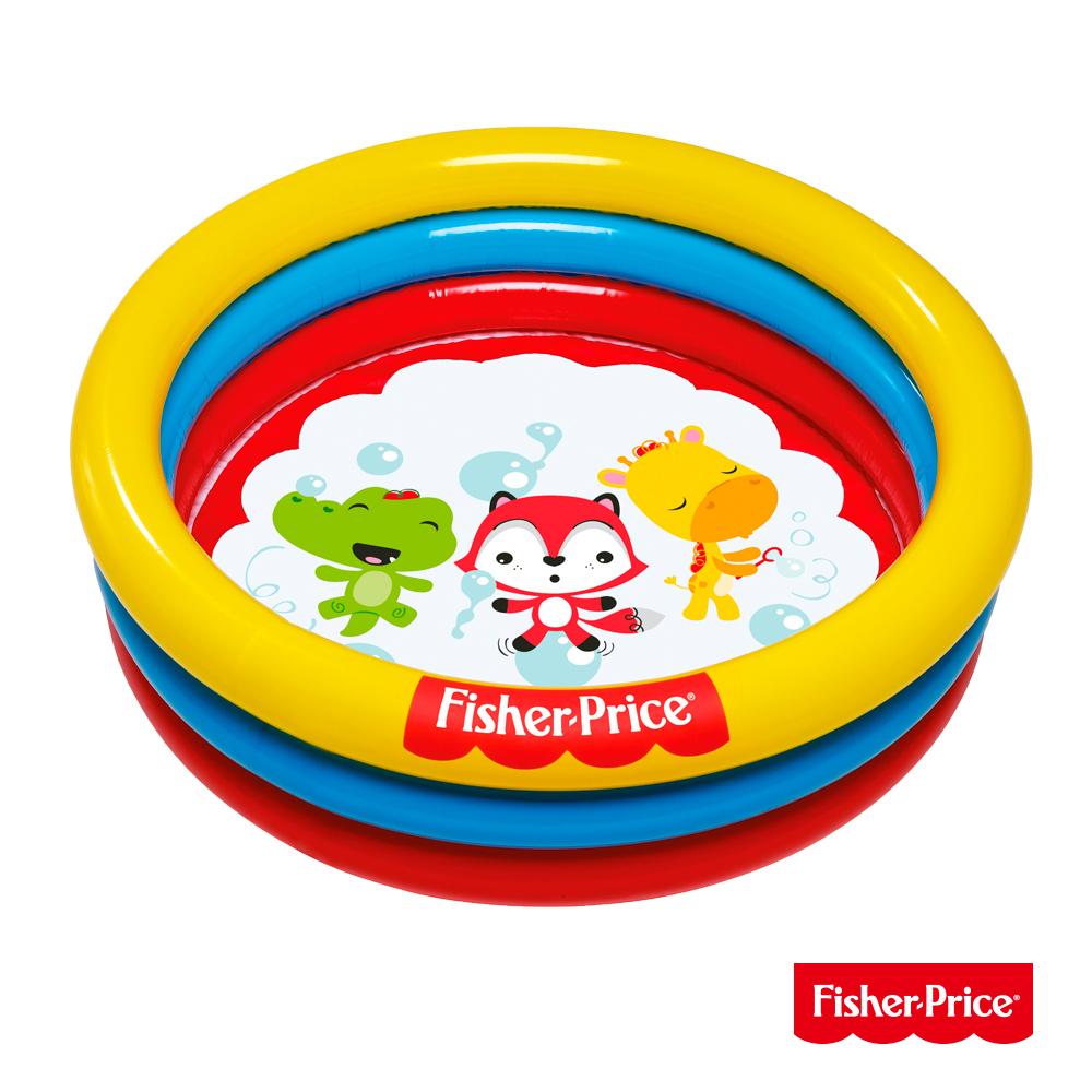 《凡太奇》Fisher-Price。三環充氣遊戲池、水池兩用(附25顆球)