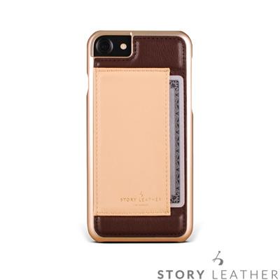 STORYLEATHER i7 / i8 4.7吋 手機殼 小牛皮咖啡紅現貨