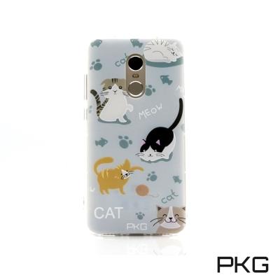 PKG 紅米NOTE4X 空壓氣囊保護殼-浮雕彩繪-玩耍貓