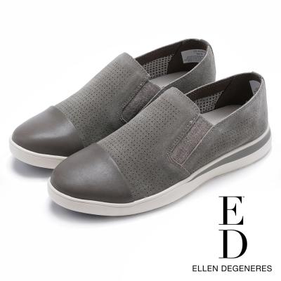 ED Ellen DeGeneres 麂皮透氣彈力拼接休閒鞋-絨灰