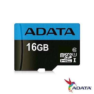 威剛 Premier microSDHC UHS-I (A1) 16G記憶卡(附轉卡) @ Y!購物