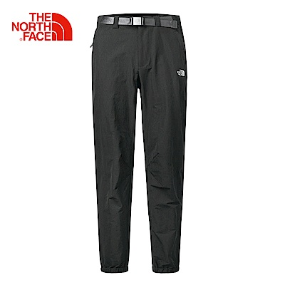 The North Face北面男款黑色吸濕快乾休閒長褲