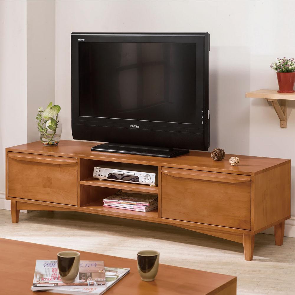 品家居 約瑟夫5.7尺實木長櫃/電視櫃-170x44x47cm-免組
