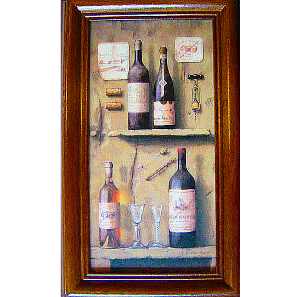 開運陶源【Wine3】原木鑰匙盒壁飾