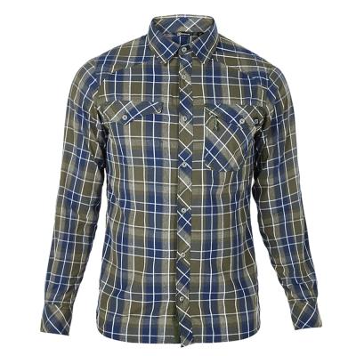 【Berghaus 貝豪斯】男款銀離子抗UV長袖襯衫S05M02-綠