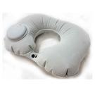 按壓自動充氣 植絨U型枕