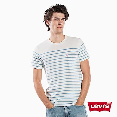 T恤 男裝 藍白條紋 - Levis