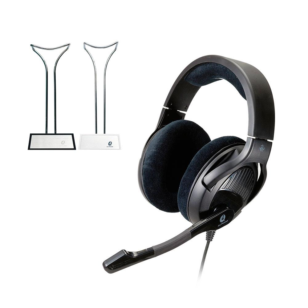 【電競組合】ALTEAM我聽 GM-592電競耳麥 + AS-004耳機架(白款)