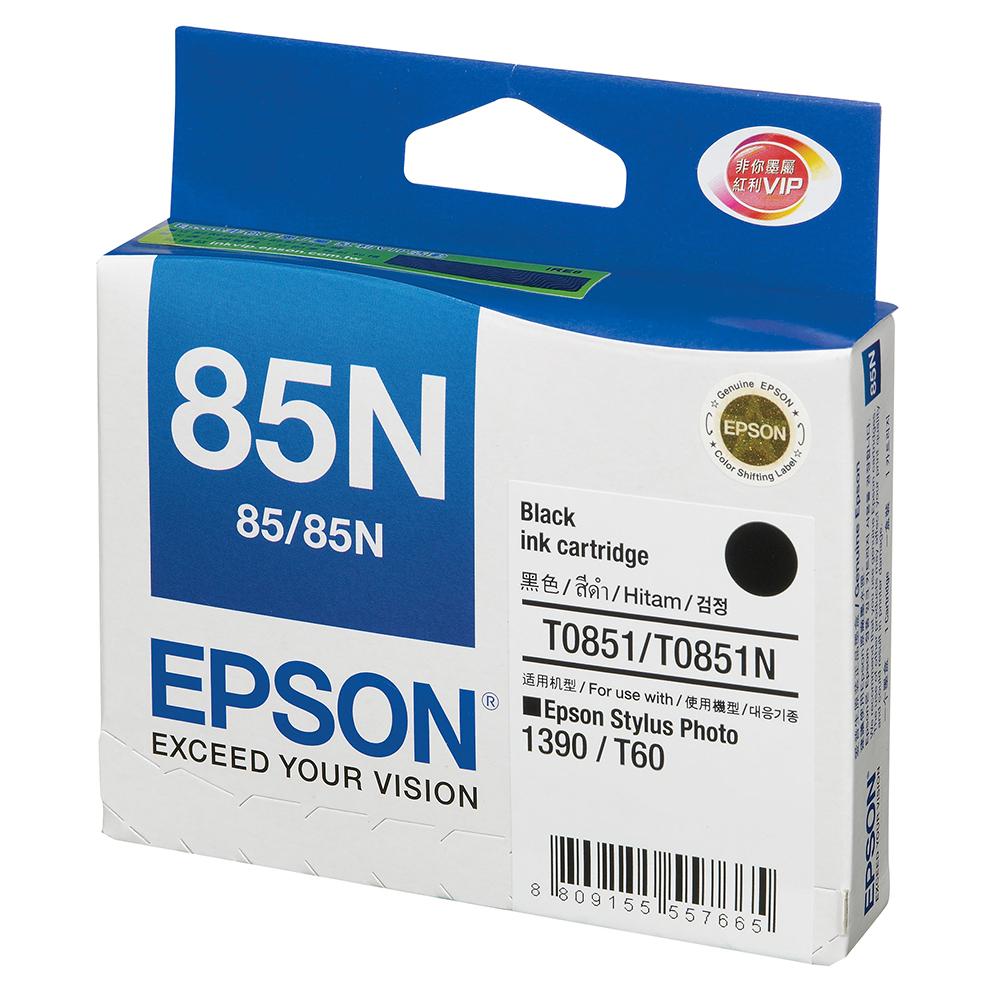 EPSON NO.85N 原廠黑色墨水匣(T122100) @ Y!購物