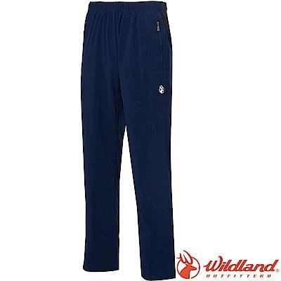 Wildland 荒野 0A61316-72深藍色 男四彈透氣抗UV休閒運動褲