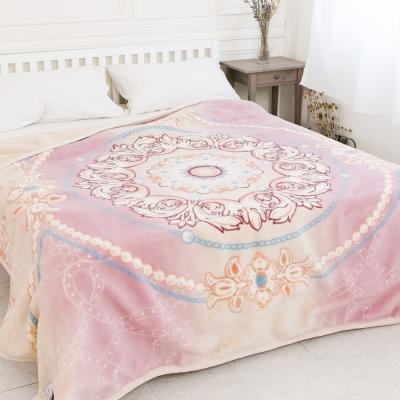 米夢家居-鳴球100%澳洲美麗諾雙層純羊毛毯(200*230CM)粉嫩花語(4公斤)