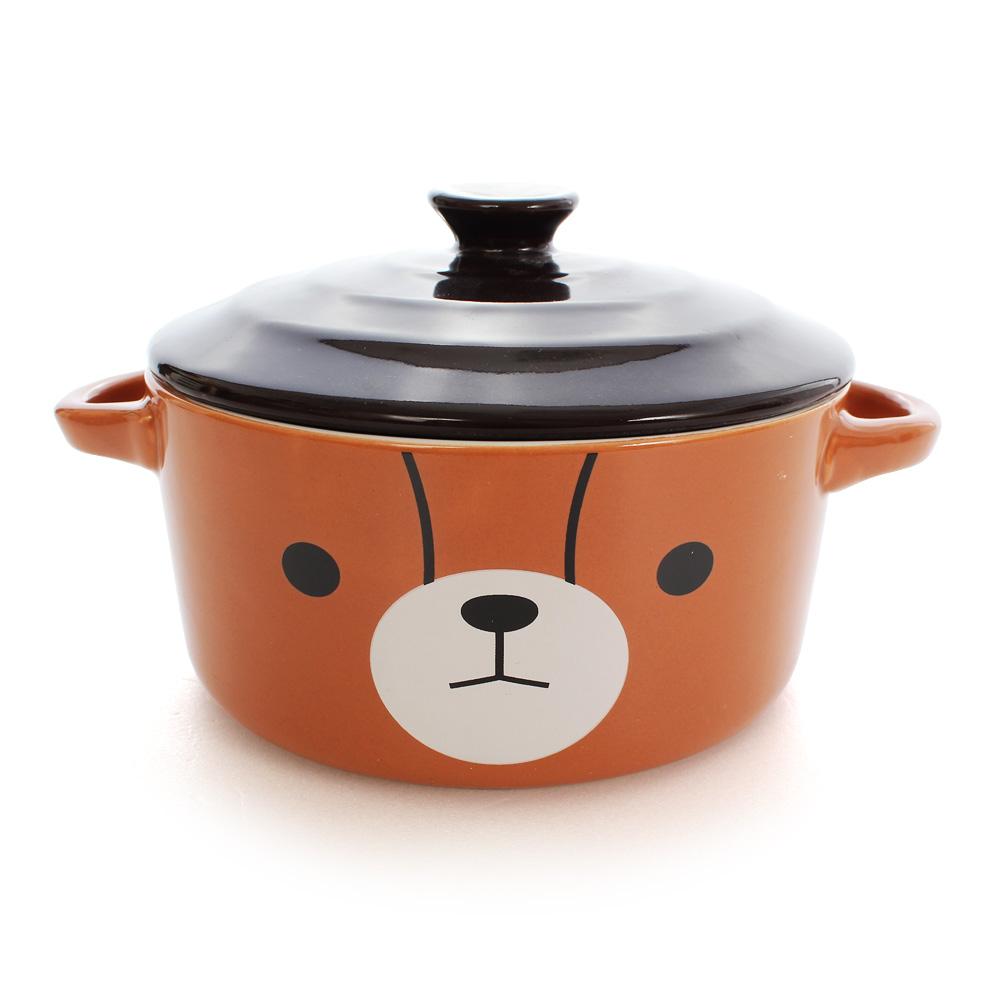 British Bear英國熊 陶瓷蓋碗5.5吋(附湯匙)