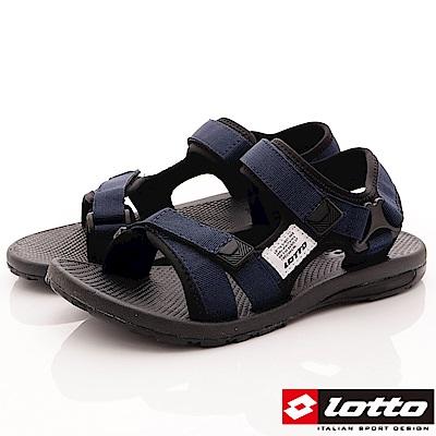 Lotto樂得-織帶避震涼鞋-SI136藍(男段)