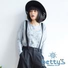 betty's貝蒂思 幾何感汽車插圖長袖T-shirt(灰色)