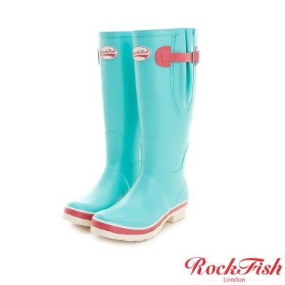 ROCKFISH 糖果色霧面長筒雨靴 撞色系列 俏皮綠