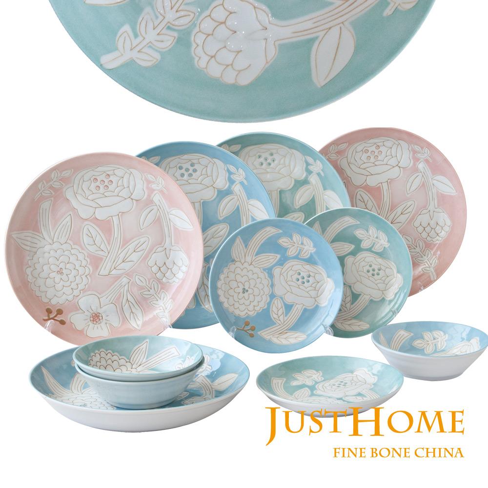 Just Home 日本製幸福花語陶瓷餐具11件組