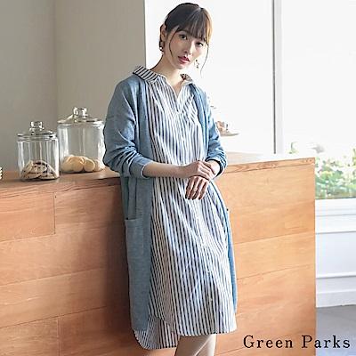 Green Parks 格紋襯衫連身裙