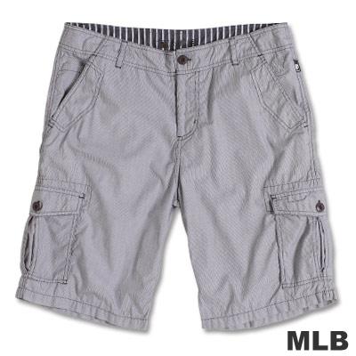 MLB-紐約洋基隊直紋休閒短褲-深灰(男)