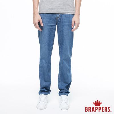 BRAPPERS 男款 HG-高腰系列-高腰全棉直筒褲-淺藍